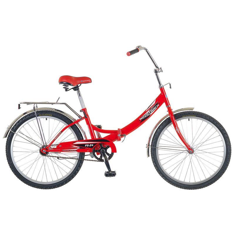 """Велосипед Novatrack 24"""" Х52036 складной ножн.торм, ал.обода красный"""