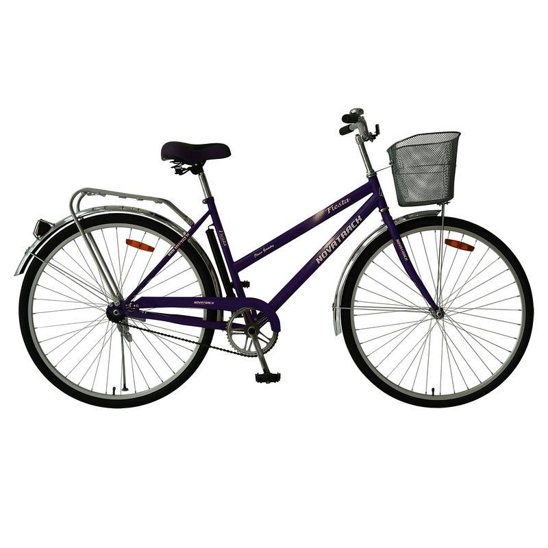 """Велосипед Novatrack 28"""" Х62676 Lady Fiesta жен.дорожный перед.корз. фиолетовый"""