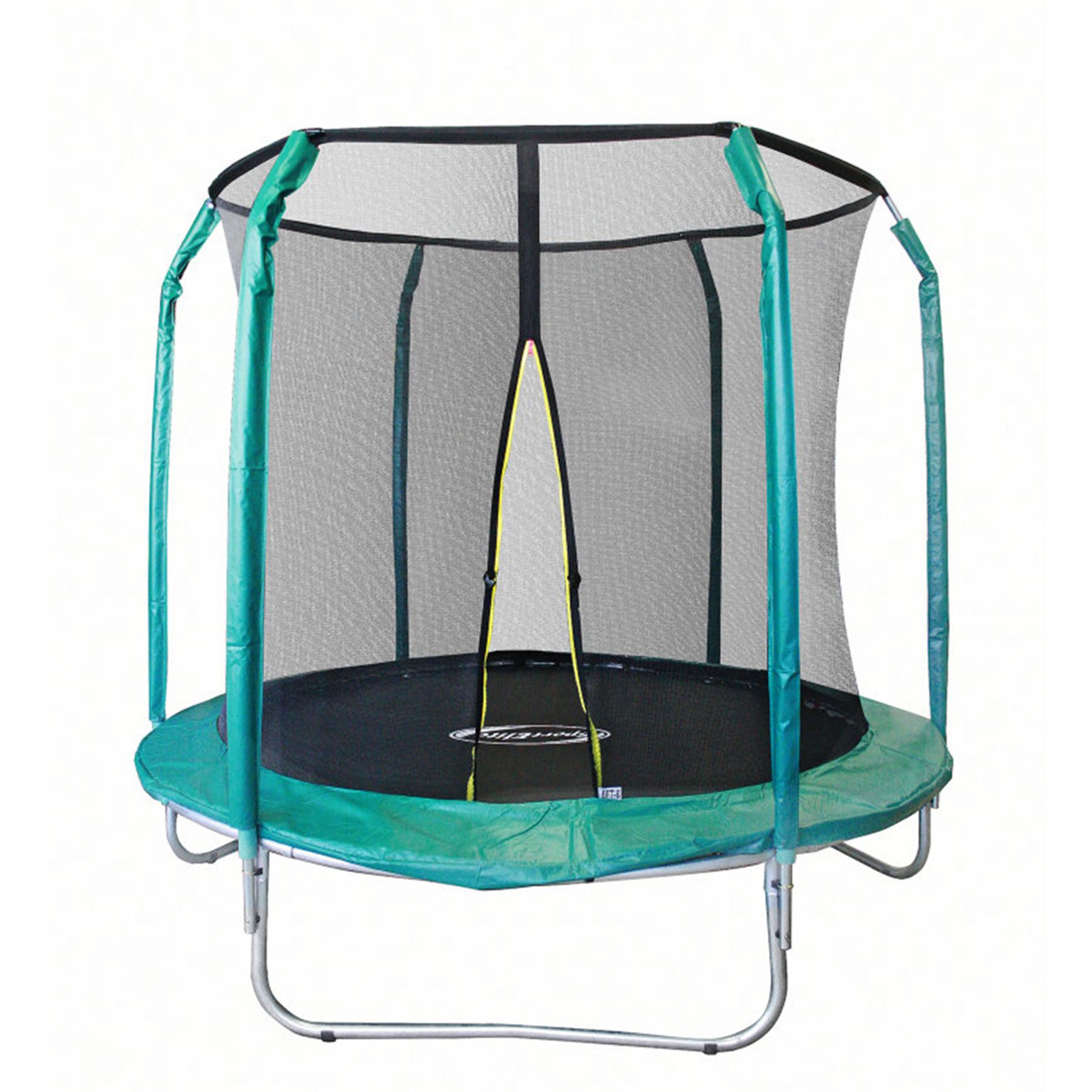 Батут с защит.сеткой (внутрь) без лест. 244 см  8FT-GB10201