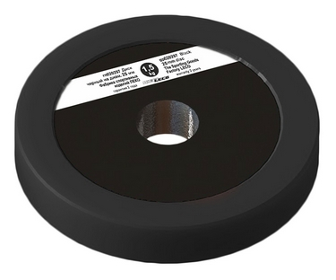 Диск Леко d-26 мм 1,5 кг черный, пластик покрытие (гп020297)