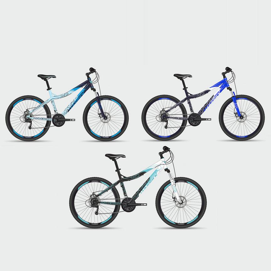 """Велосипед Maverick 26"""" Dancer 1.0,горный,v-brake,рама 19.5 Alloy, 21-ск,матово-черный+синий"""