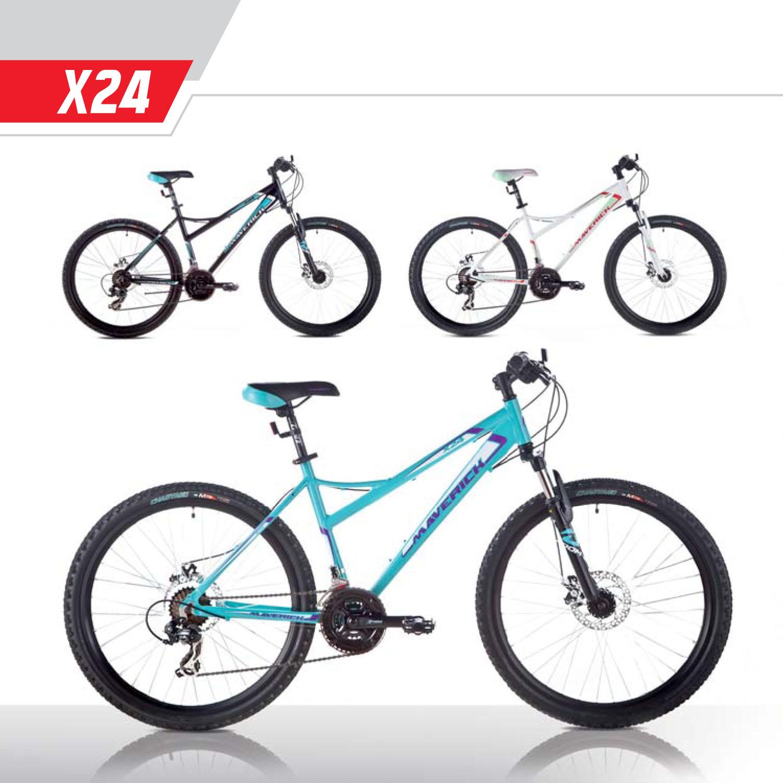 """Велосипед Maverick 26"""" X24,горный,Disk,рама 17.5 Alloy, 21-ск,Черный-бирюзовый"""