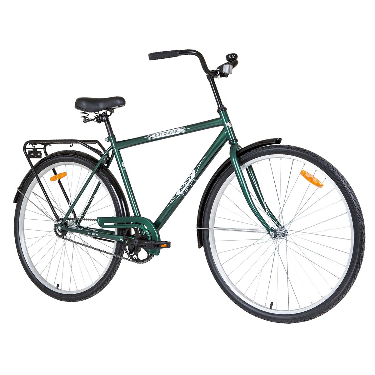 """Велосипед AIST 28"""" 28-130 дорожный с закрытой рамой зеленый"""