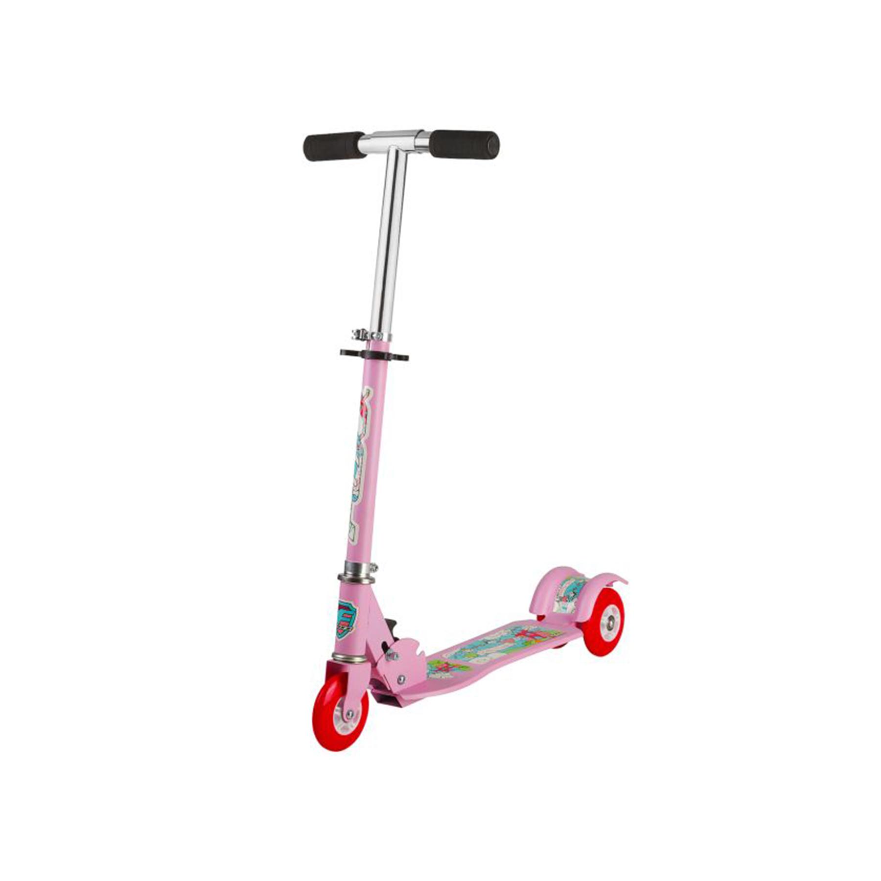 Самокат Foxx Fairy Tale( 2 колеса сзади) сталь,колеса 100мм,ABEC-7 (розовый) 117777
