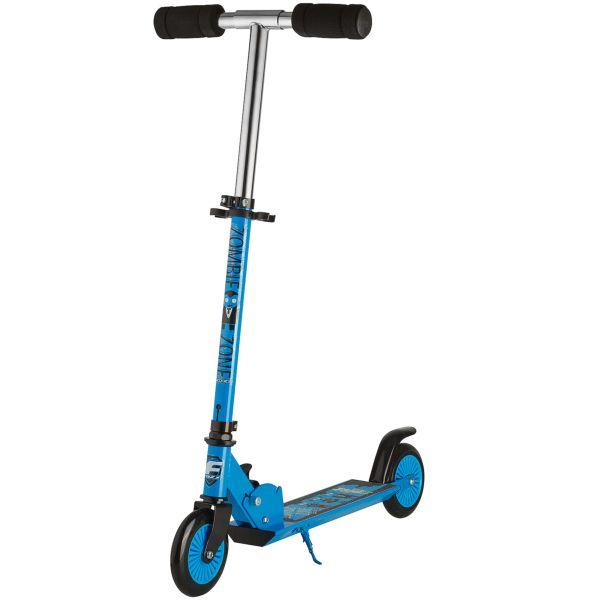 Самокат Foxx Zomby Zone алюм+сталь,колеса 125мм,ABEC-7 (голубой) 117765