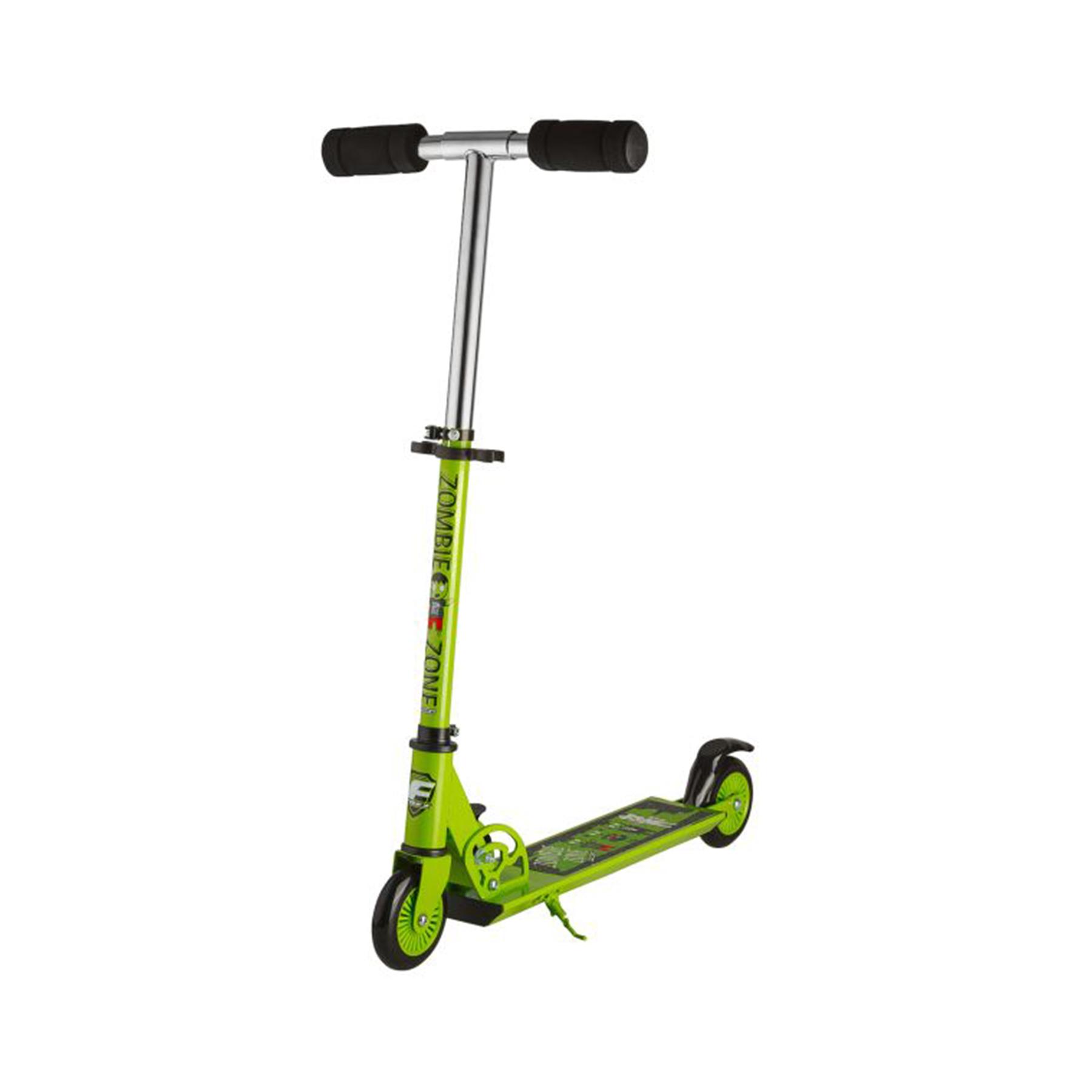 Самокат Foxx Zomby Zone алюм+сталь,колеса 100мм,ABEC-7 (зеленый) 117763