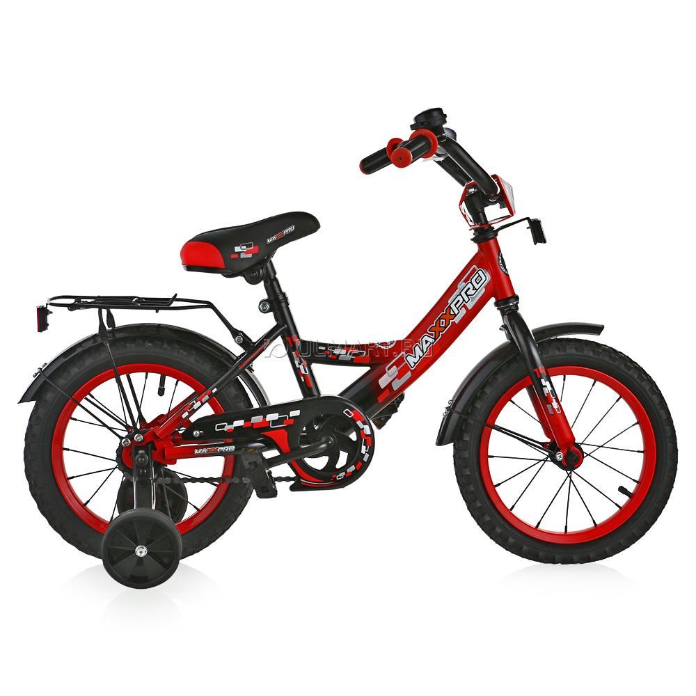 "Велосипед MaxxPro 14""  Z14204(18) (метал. рама,багажник,крылья,звонок).Зелено-белый"