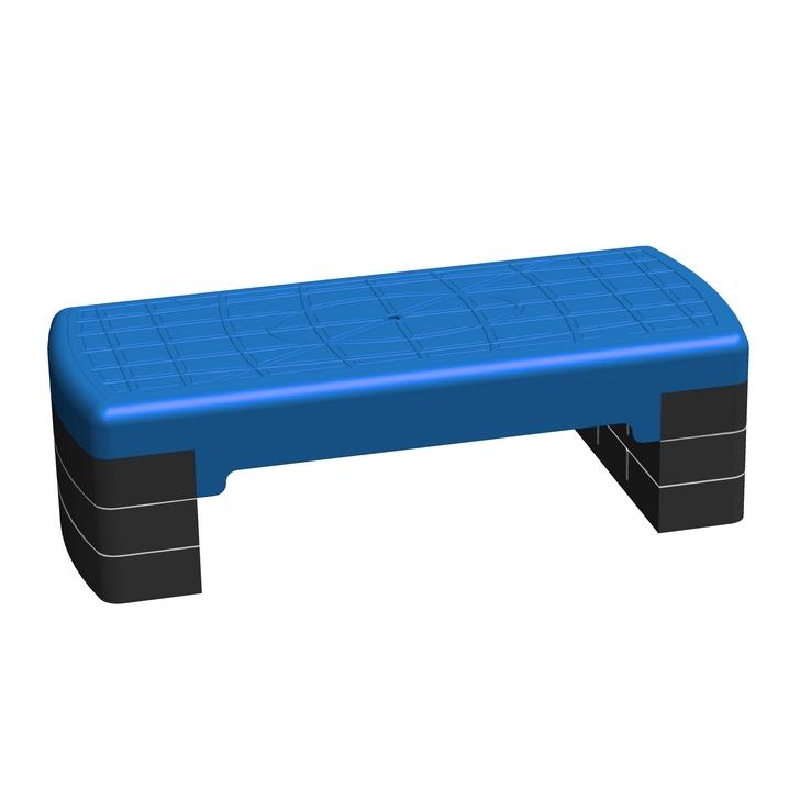 Степ платформа Леко трёхуровневая синяя 68*28см (гп075005)