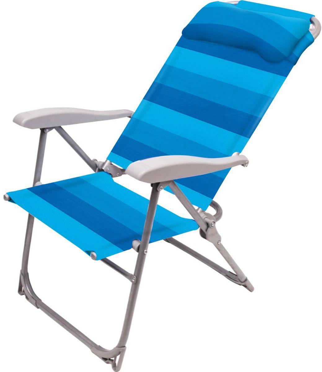 """Кресло-шезлонг складное """"НИКА"""" К2 нагрузка 120кг,цвет синий,размер 750*590*1090мм"""