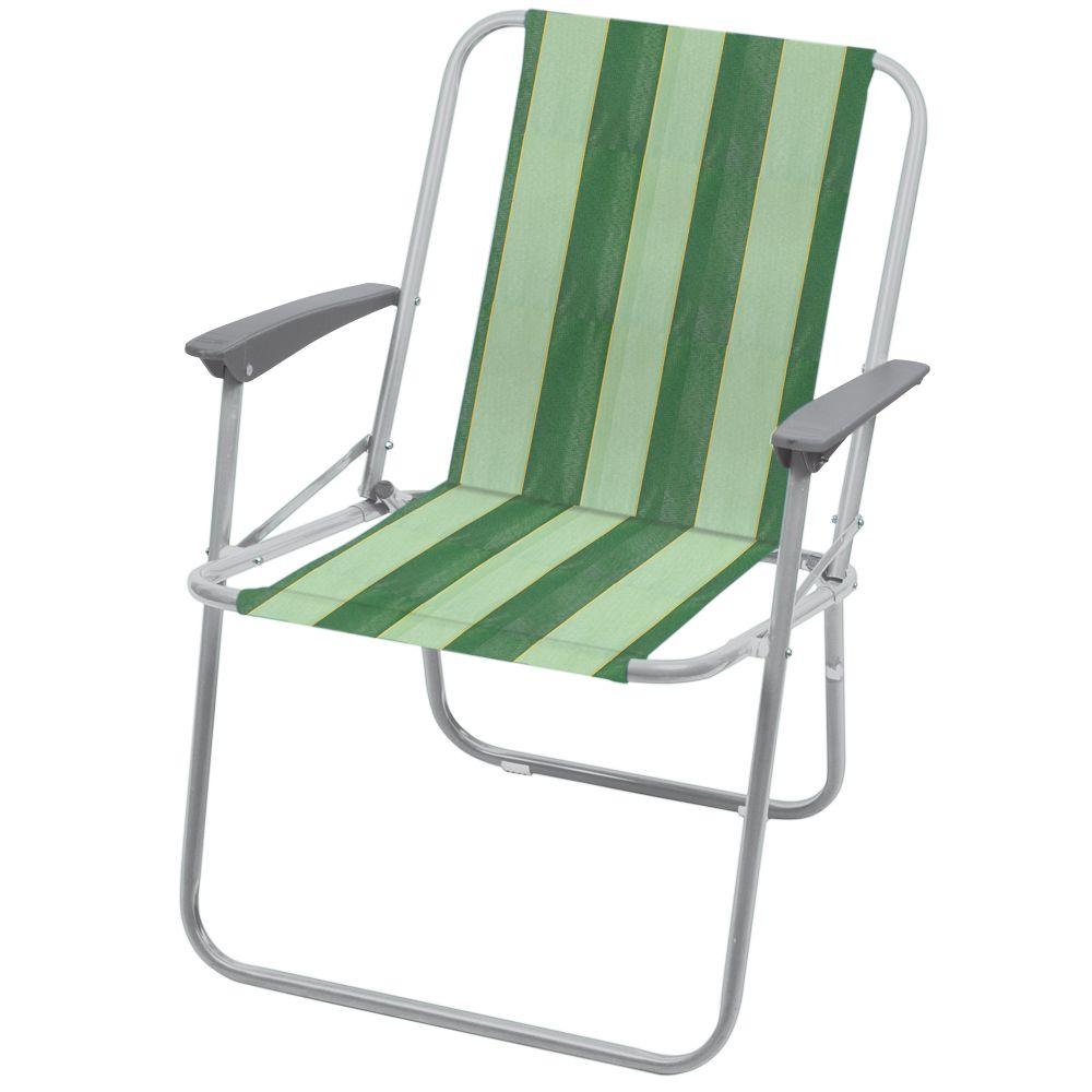"""Кресло складное """"НИКА"""" КС4 нагрузка 100кг,цвет зеленый,размер 580*635*730мм"""