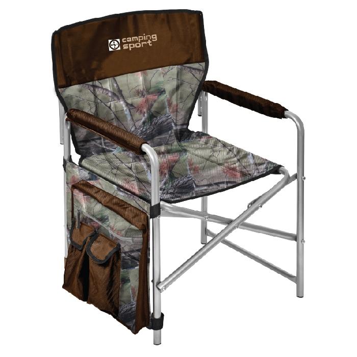 """Кресло складное с карманами """"НИКА"""" КС1 нагрузка 100кг,цвет хант/коричневый,размер 490*490*720мм"""