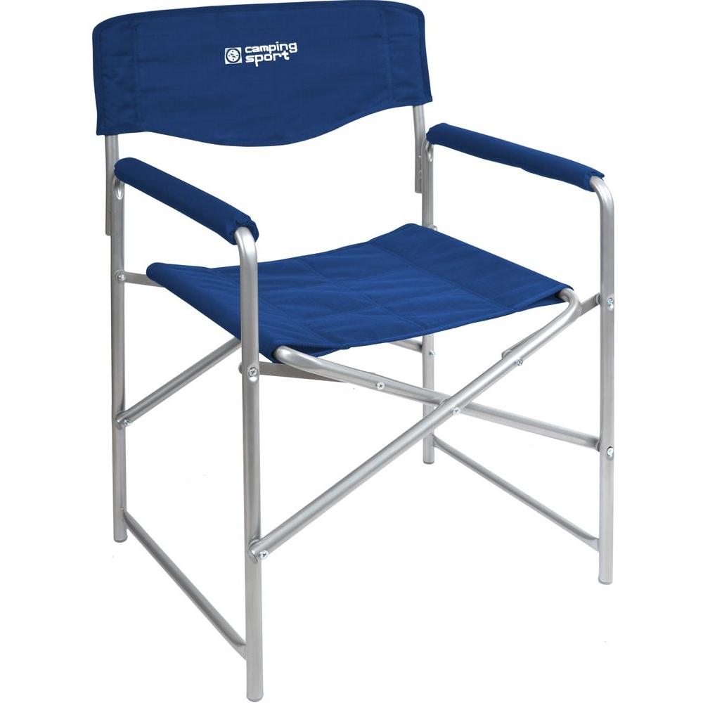 """Кресло складное """"НИКА"""" КС3 нагрузка 120кг,цвет синий,размер 490*550*820мм"""