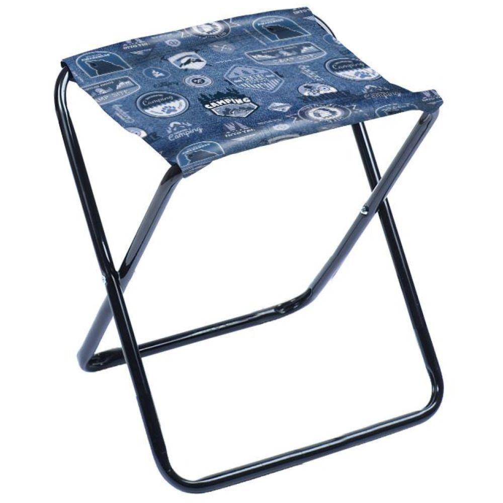 """Набор складных стульев-табуретов """"НИКА"""" НПС (2шт) нагрузка 90кг,цвет джинс,размер 340*295*370мм"""