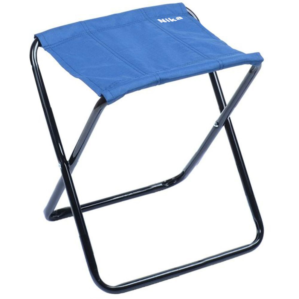 "Набор складных стульев-табуретов ""НИКА"" НПС (2шт) нагрузка 90кг,цвет синий,размер 340*295*370мм"