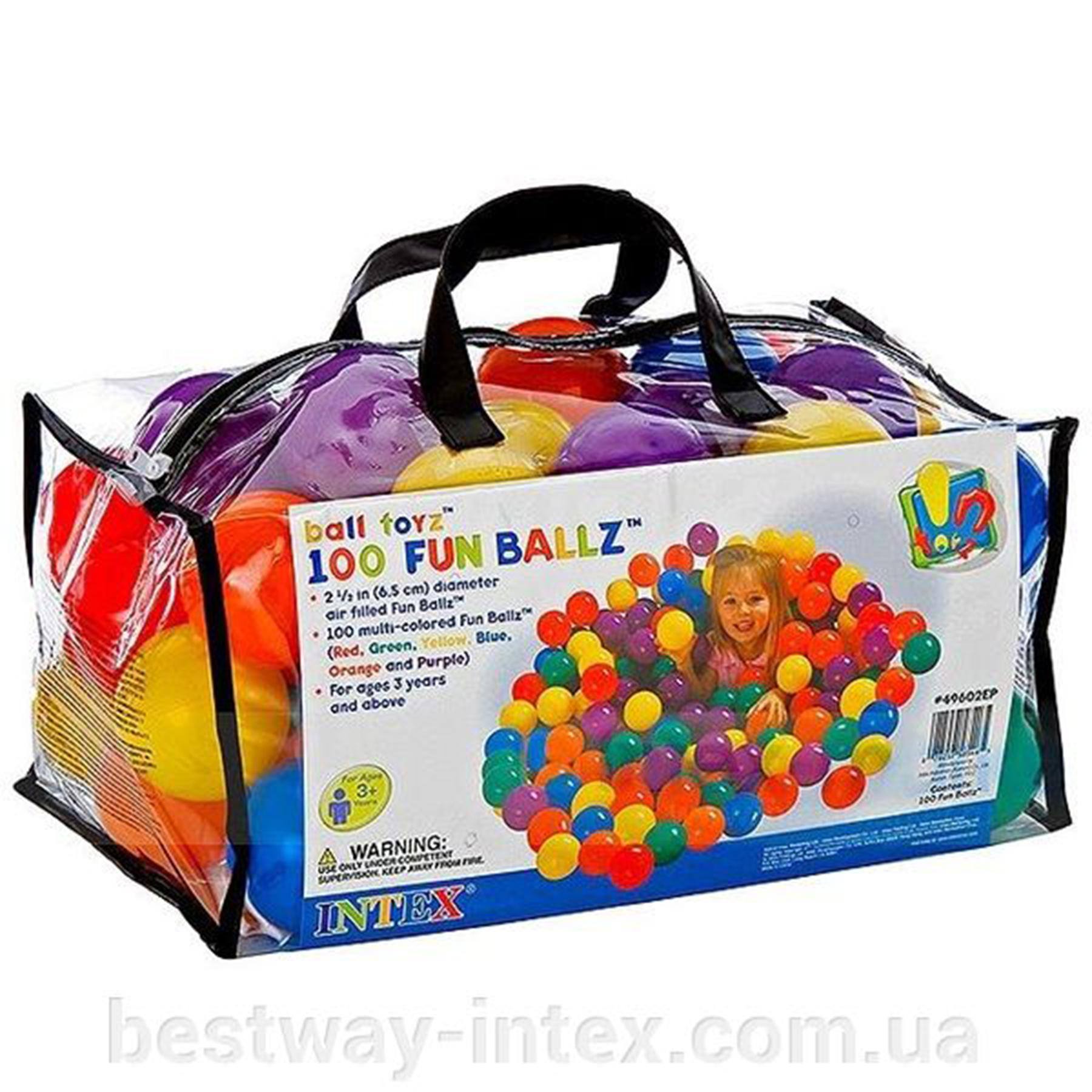 49602 Набор маленьких шаров 6,5 см для игр в сумке 100 шт