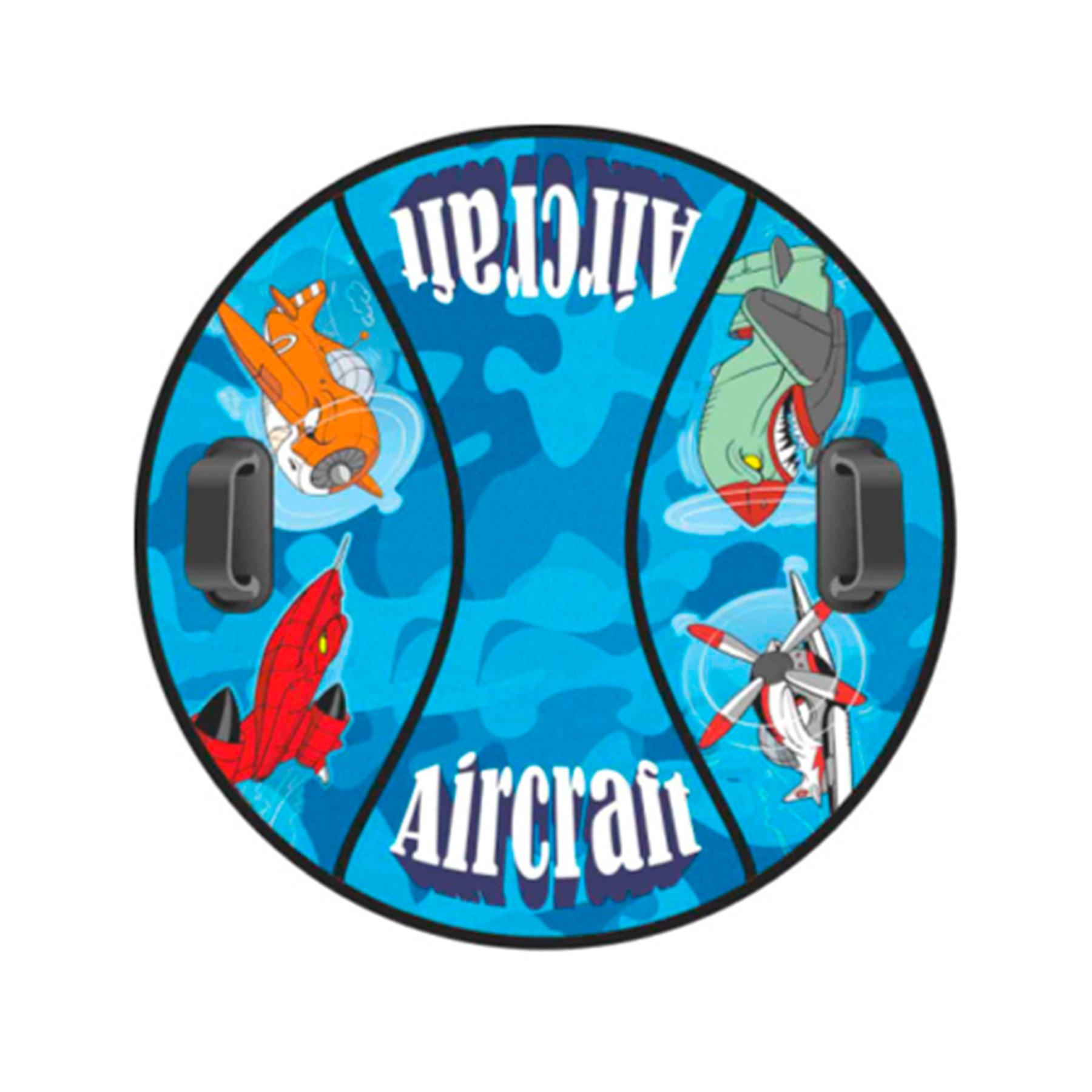"""Сноутьюб """"Комфорт"""" 90см (Aircraft голубой)"""
