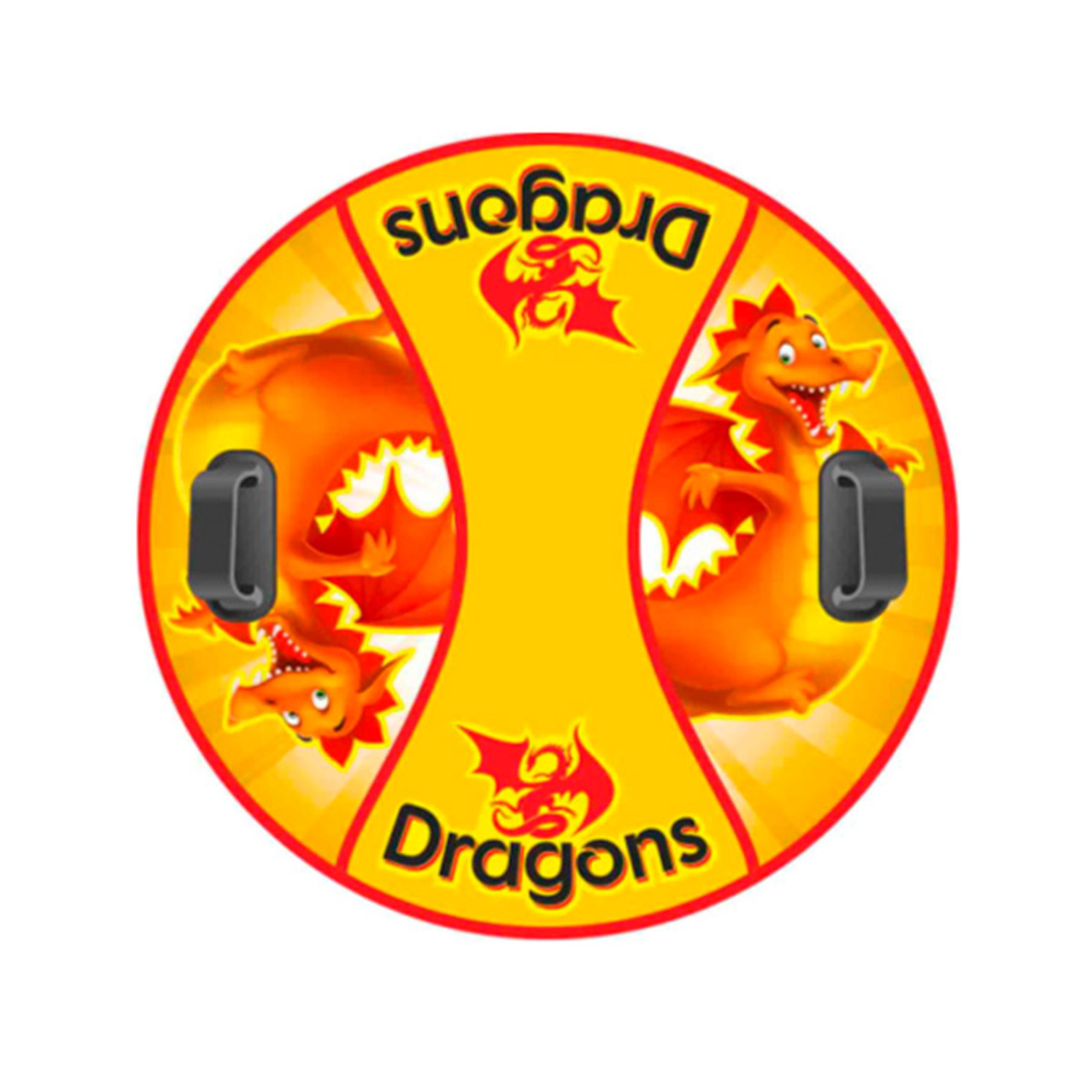 """Сноутьюб """"Комфорт"""" 90см (Dragons желтый)"""