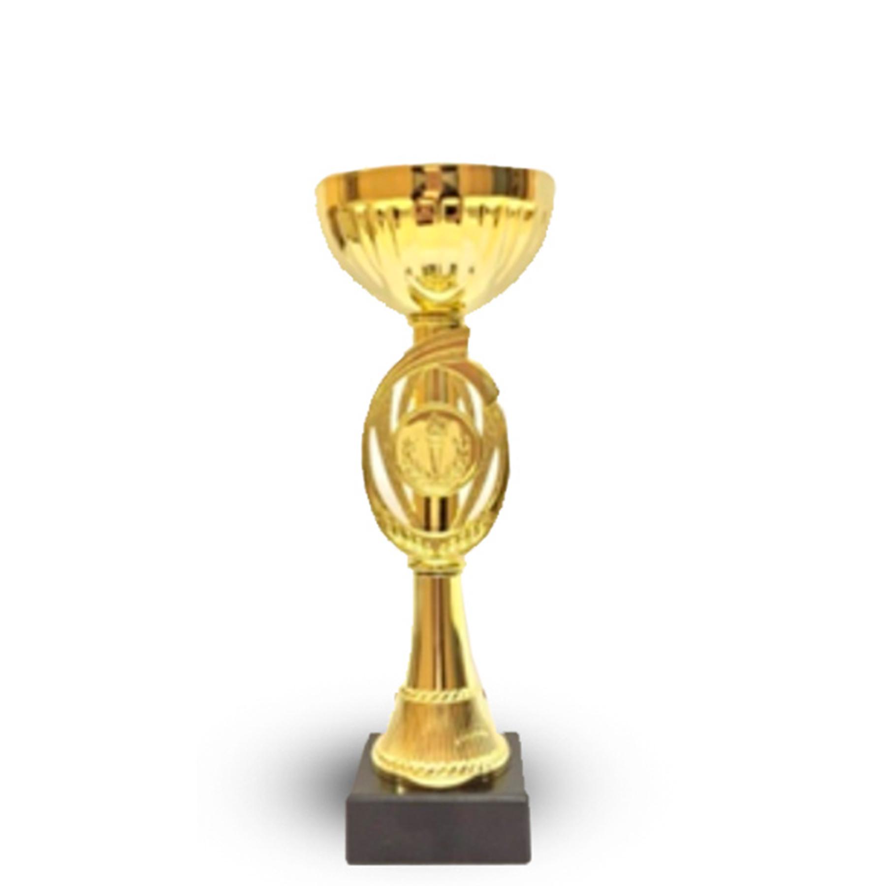 Кубок 434В Чаша кругл золото с местом под эмблему  h-25см