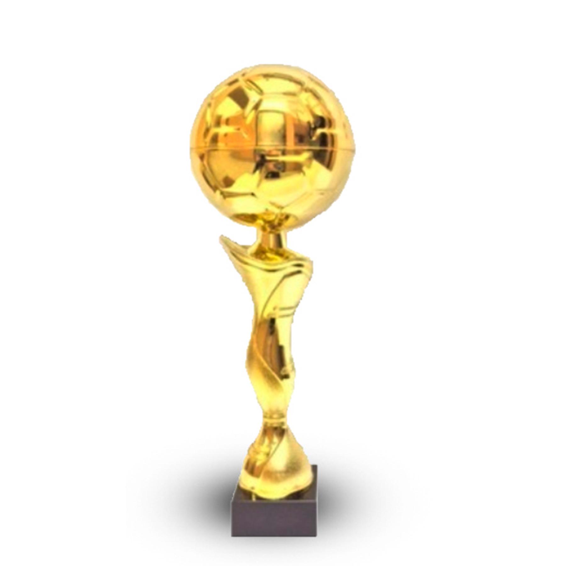 Кубок 410В футбольный мяч золото h-37см
