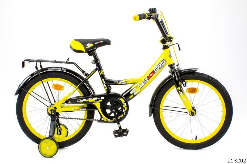 "Велосипед MaxxPro 16""  Z16202(18) (метал. рама,багажник,крылья,звонок).Желто-черный НОВИНКА!!!!"