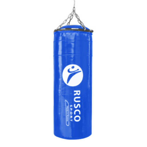"""Мешок бокс. """"BOXER""""  30 кг на цепях 35*90см синий тент/резин.крошка"""