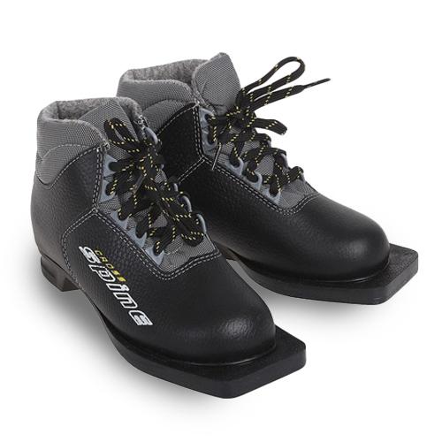 Ботинки лыжные Spine CROSS кожа NN75  р.39 черные