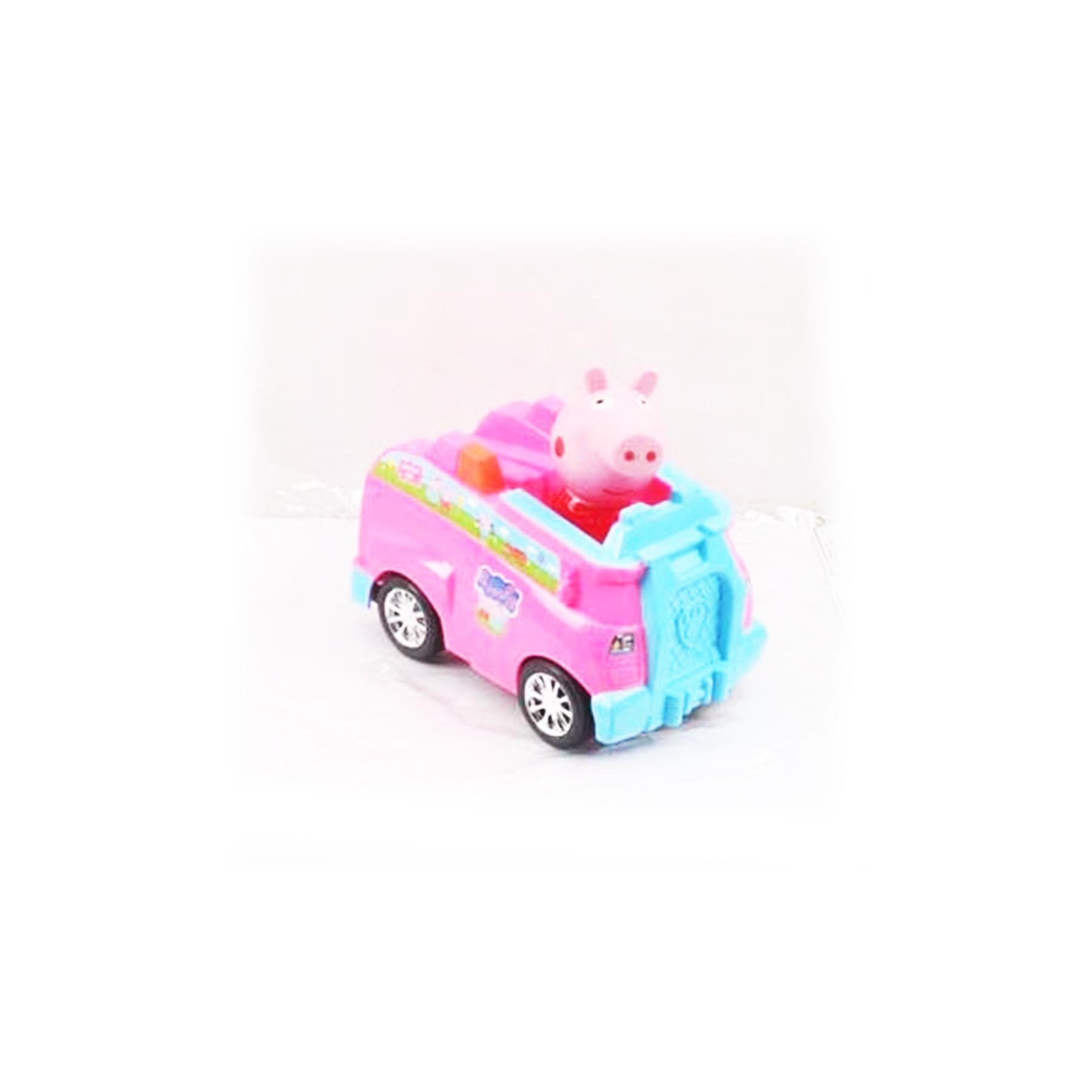 Машинка инерционная в пакете со свинкой 14*9*9см XZ-372А