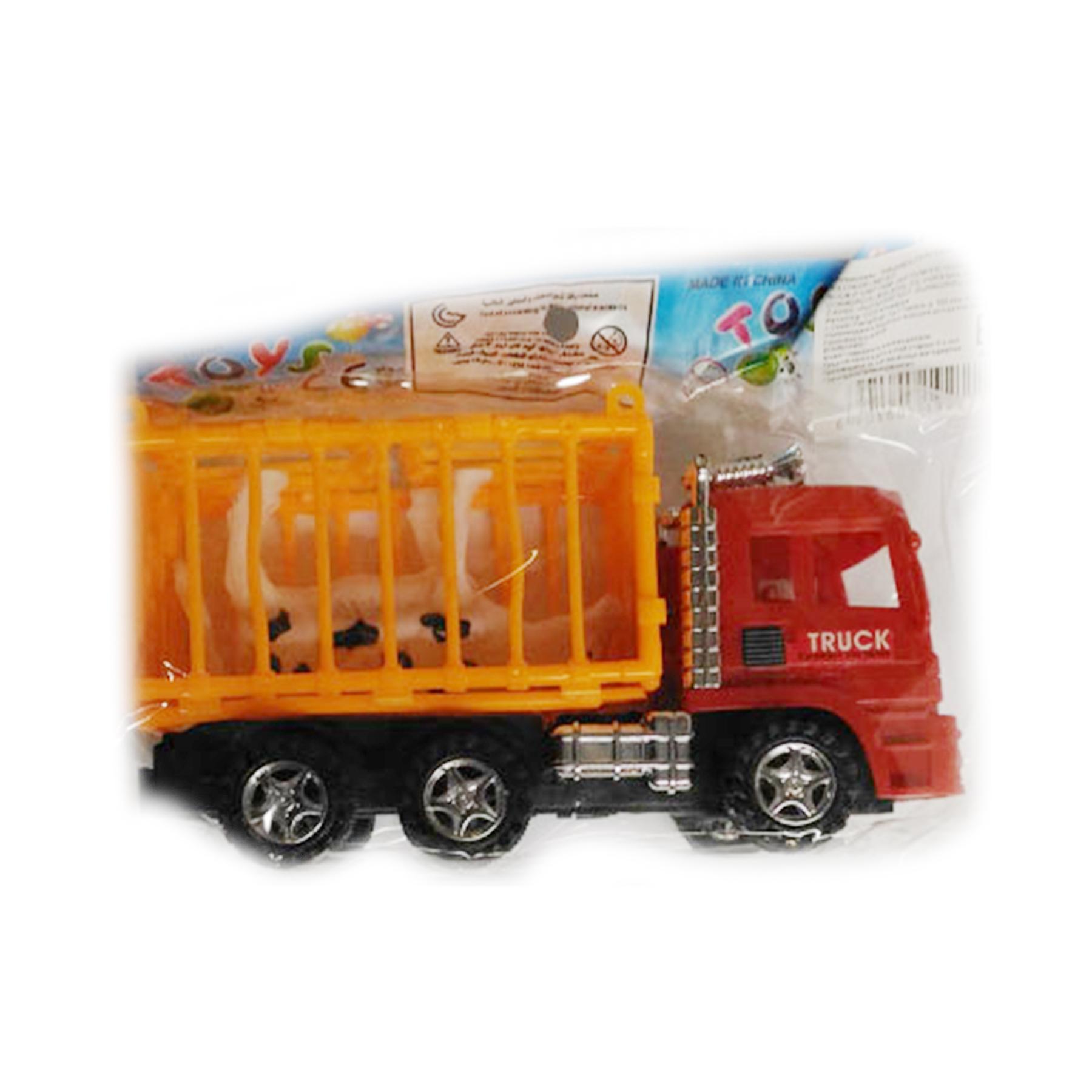 Машинка перевозчик в пакете+животное 3398-14