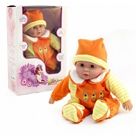 Кукла интерактивная 40см, в оранжевом, говорит, поет, рассказывает стихи UT-J1648 (21766)