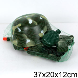 Набор солдата в сетке (автомат+шлем) М630-1AD
