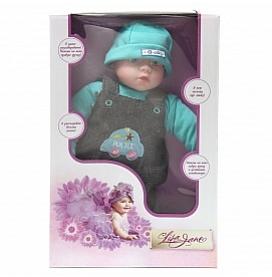 Кукла интерактивная 40см, голубой деним, поет, рассказывает стихи 40345