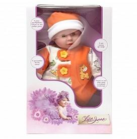 Кукла интерактивная 40см, ярко-оранж., поет, рассказывает стихи 40347