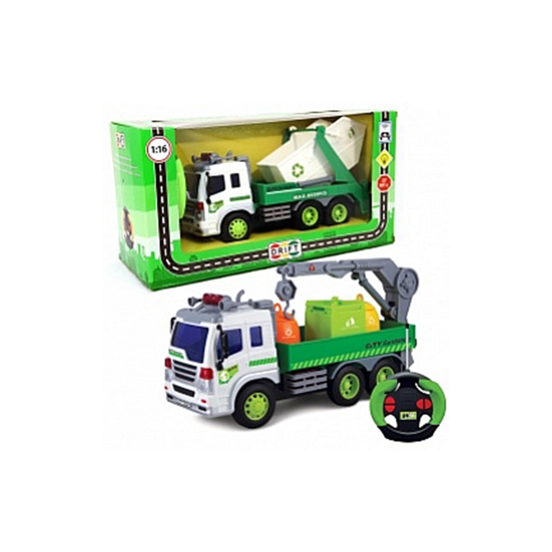 Машина р/у грузовик-мусоровоз с манипулятором, со зв. и св., 27,5*8,5*14 см, 29631 (47976)