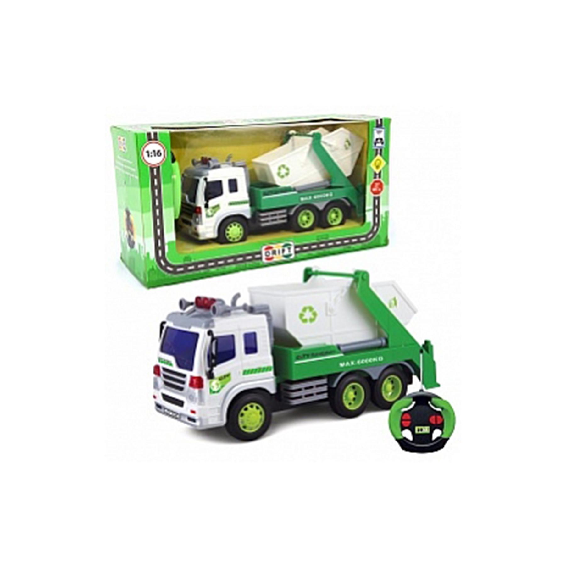 Машина р/у грузовик-контейнерный мусоровоз, свет, 26,5*10*14 см, 29630
