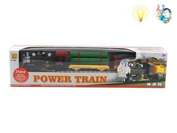 Железная дорога, классический поезд,свет+звук на батарейках 100609868 (2472)