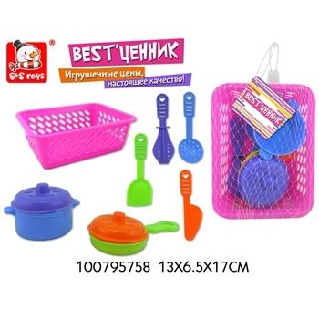 Набор посудки в корзинке (принадлежности для кухни) 100795758 (52002)