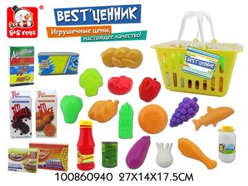 Набор игрушечной еды в корзине 27*14*17,5см 100860940 (52006)