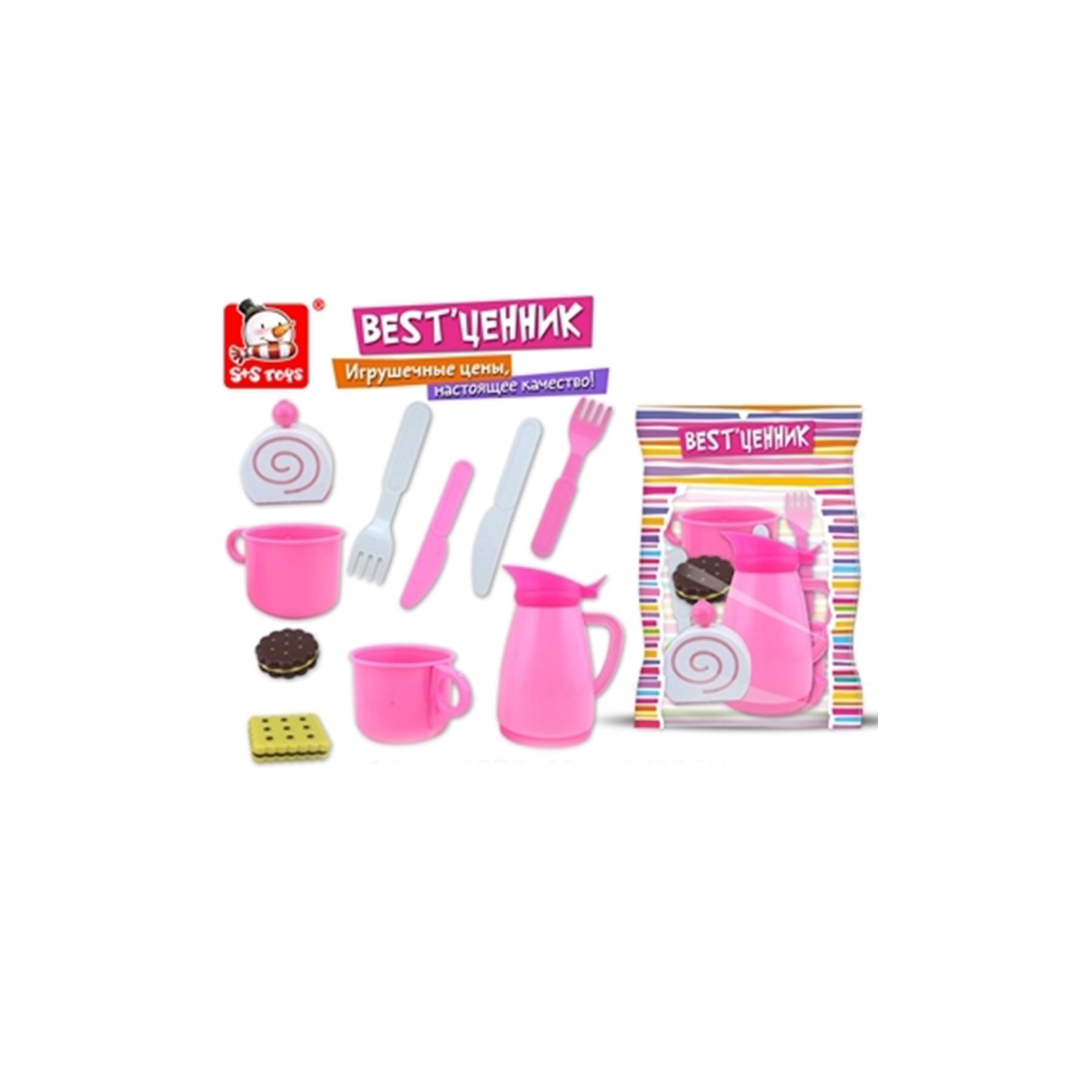 Набор посудки,чайник +столовые приборы 18,5*5*25см 100799077 (50698)
