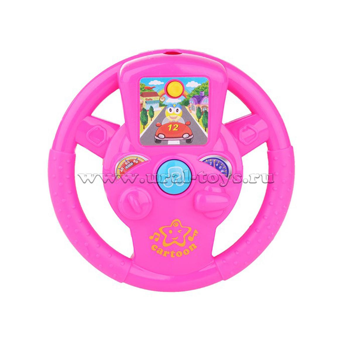 Детский руль со светом и звуком на батарейках 100799122 (50688)