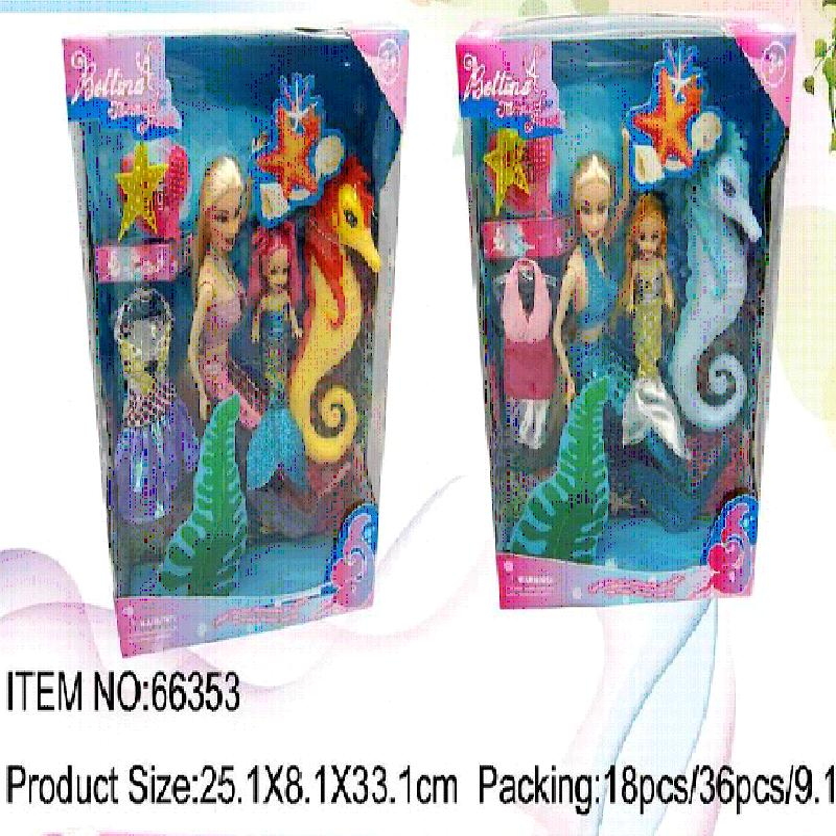 "Кукла ""Русалка"" в коробке арт.66353"