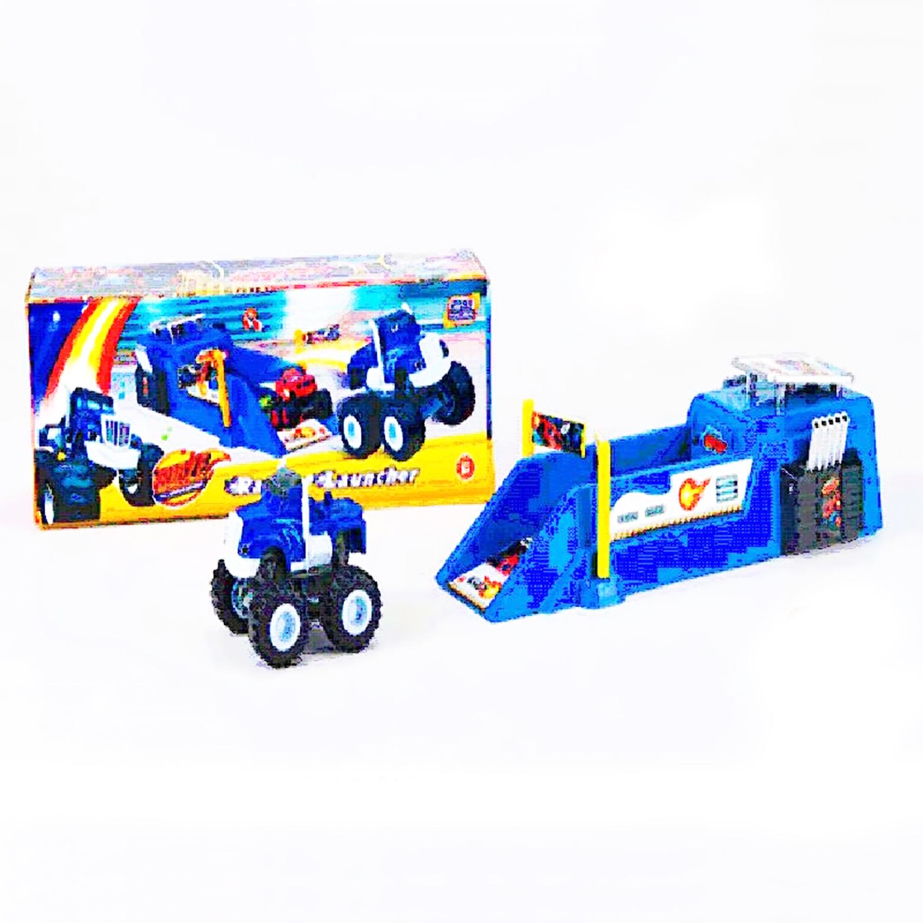 Машинка вспышка с музыкой синяя 828-51S