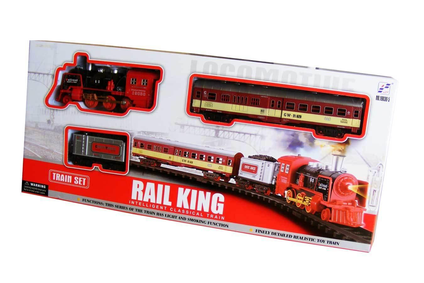"Железная дорога ""Rail King"" 19030-5  (54,5*5,5*24) арт. 1399428 УЦЕНКА!"