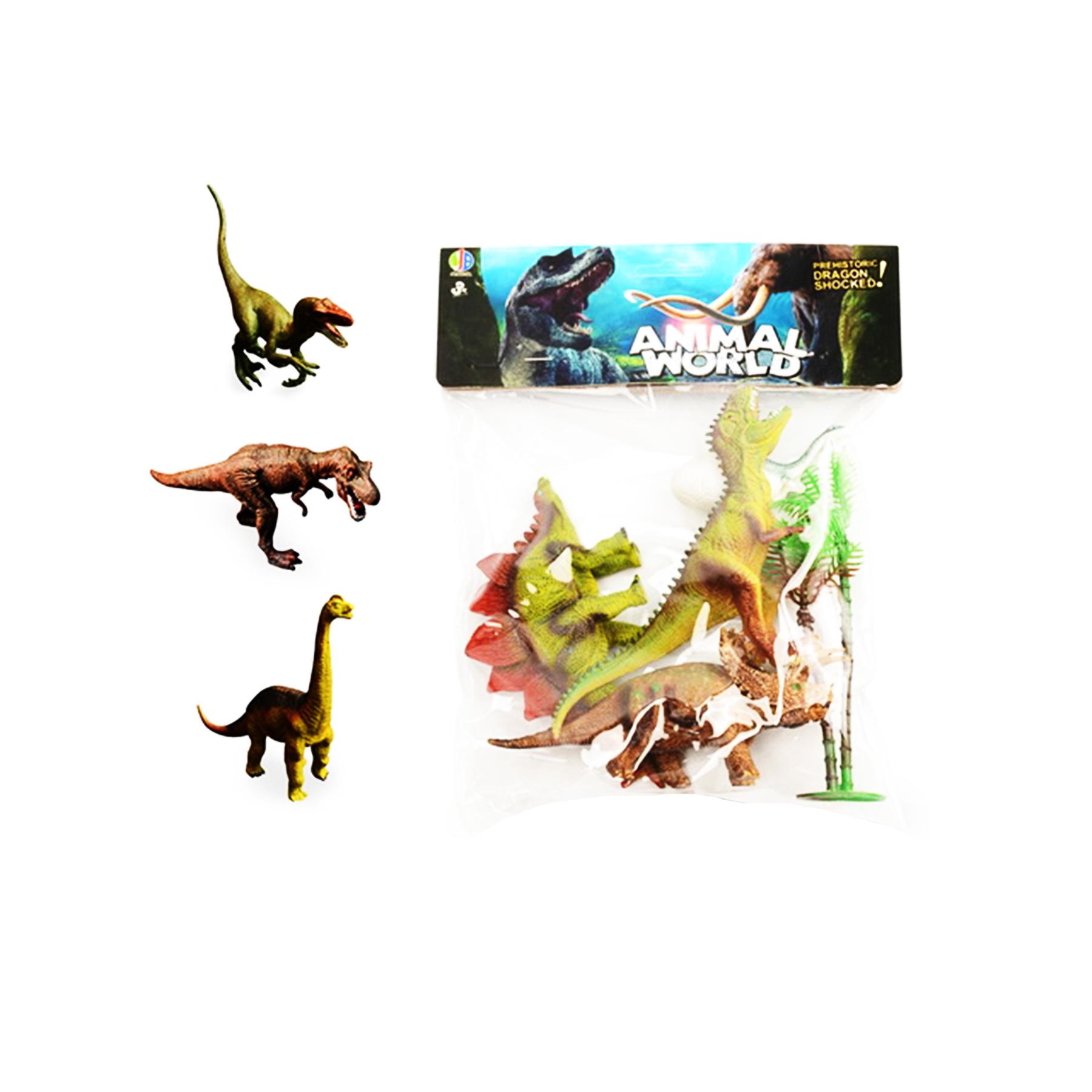 Динозавр пластмассовый без механизма по 3шт 689/2 (379202)