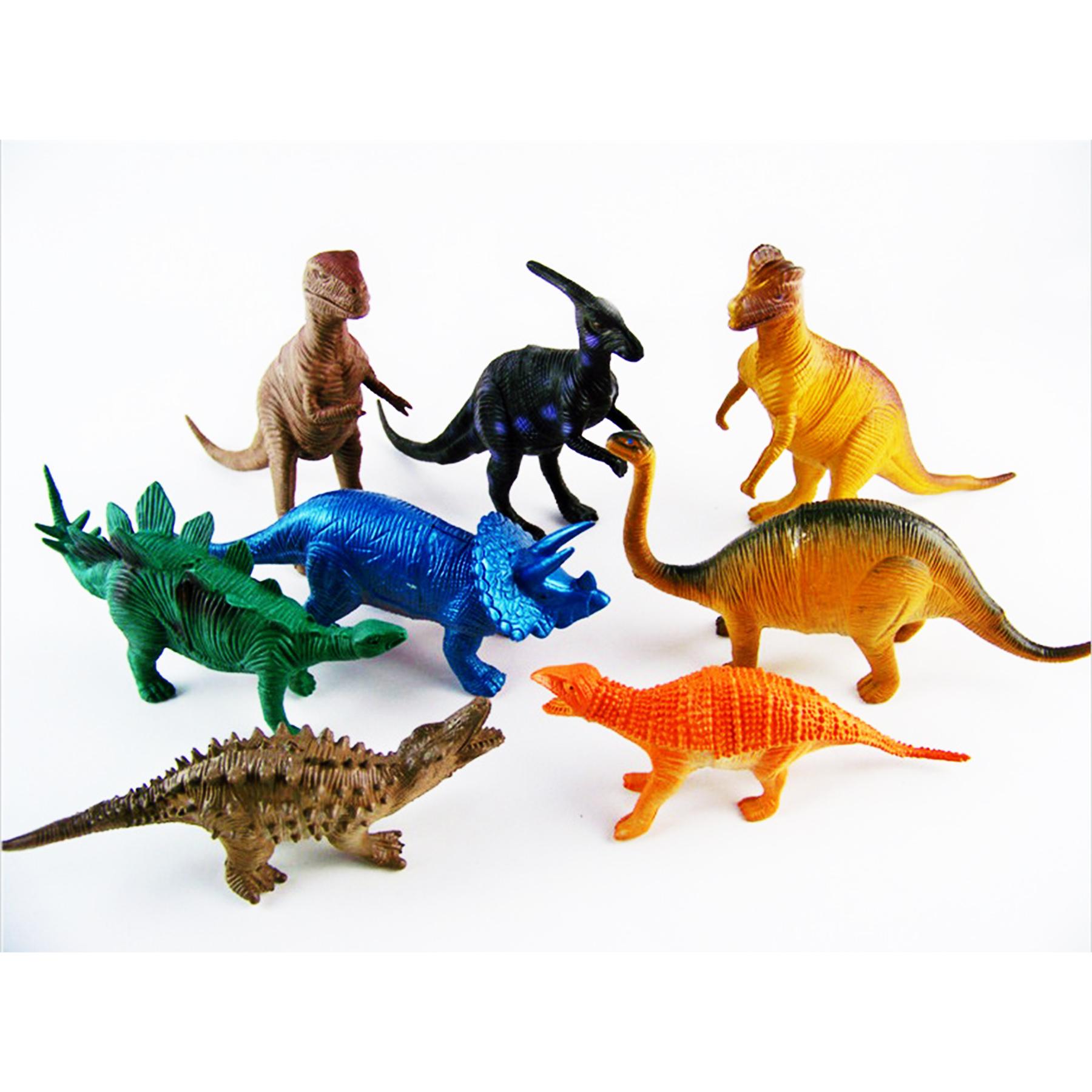 Динозавр пластмассовый без механизма по 3шт А807-H42516 (379200)