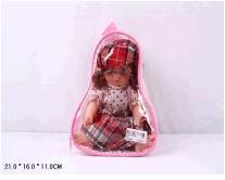 Кукла девочка пластмассовая без механизма в одежде 906 (356309)