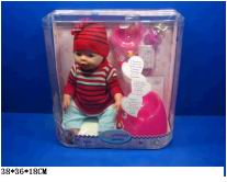 Кукла девочка пластмассовая без механизма в одежде 8002-G (103264)